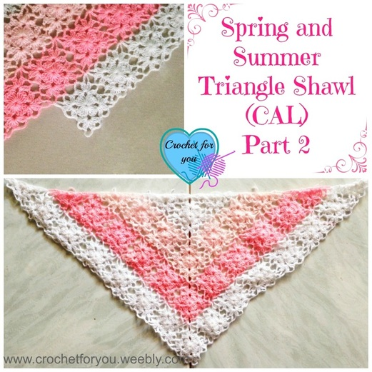 Free Crochet Pattern For Triangular Prayer Shawl : Crochet For You - free patterns and tutorials