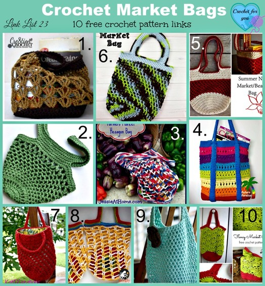 ... 10 Free Crochet Market Bag PatternsCrochet for you - crochet for you
