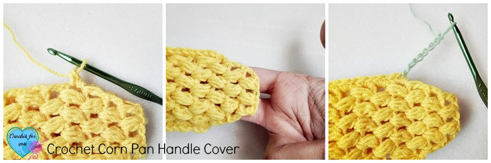 Corn Applique turns to a Pan Handle Cover