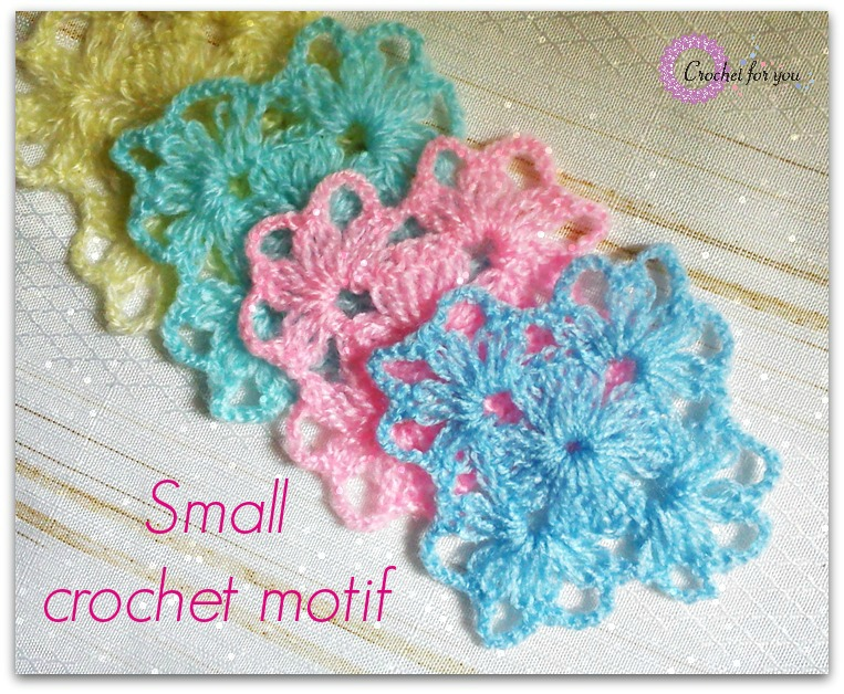 Crochet Patterns For Motifs : Crochet For You - free patterns and tutorials - crochet ...