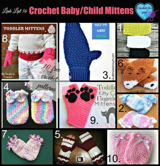 Crochet baby/child mittens