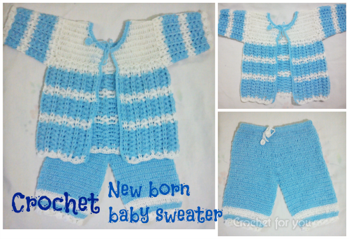 Crochet-New-Born-baby-Sweater-set