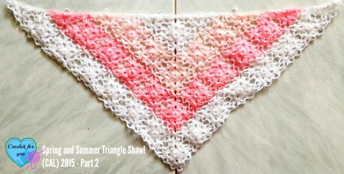Summer Sprigs Lace Shawl Free Crochet Pattern : Crochet For You - free patterns and tutorials - crochet ...