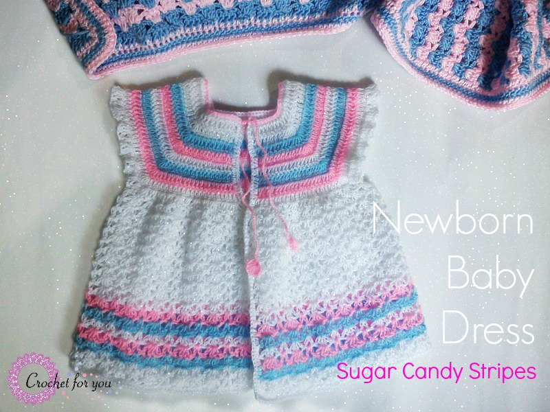 Crochet Newborn Baby Dress Pattern Free : Crochet For You - free patterns and tutorials - crochet ...
