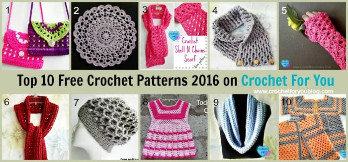 Top 10 Free Crochet Pattern Websites : crochet for you - Crochet For You - free patterns and ...
