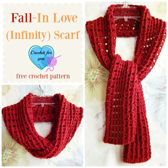 Fall-In Love (Infinity) Scarf – free crochet pattern